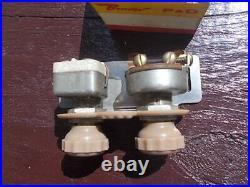 1930s-40s ARK-LES Under Dash Fog Lights & Heater Switch NOS art deco vtg ornate
