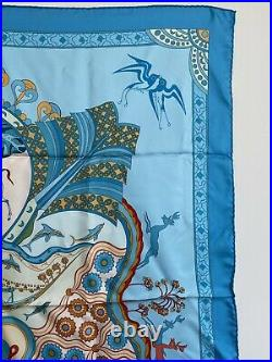 Authentic Hermes Silk Scarf 90 cm sq Les Printemps de Thera Vintage NIBWOT