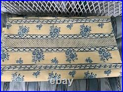 Brunschwig & Fils Les Bluets Vintage 90's Cotton Fabric 9+ Yard Remnant X 54