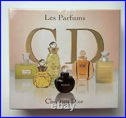 Christian Dior Les Parfums Set 6 X 5 ML Jadore Dune Poison Dolche Vita Vintage