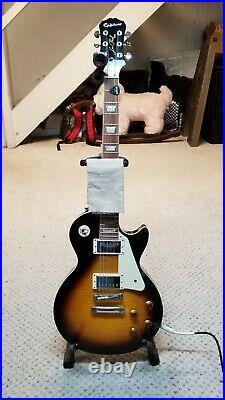 Epiphone Les Paul Standard Plus Top Vintage Sunburst Electric Guitar barely used