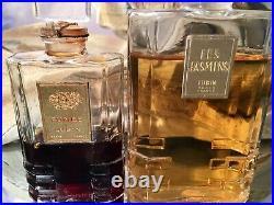 FUMEE & LES JASMINS by LUBIN 1FL OZ & 2 FL OZ EXTRAITS VINTAGE LUBIN SET