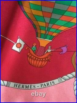 Hermes Vintage Silk Scarf Les Folies du Ciel (1984)