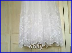 JACQUES HEIM Les Mariees French vintage lace wedding dress gown 60s 50s Size 6