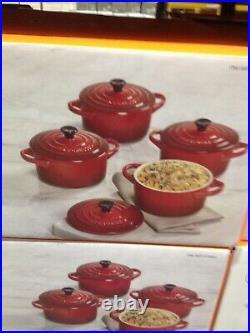 Le Creuset Les Céramiques Cocotte set of 4 Cherry 22oz 0.65lt