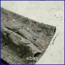 Leinen lagenlook mantel spitze antik les shabby chic ours retro vintage rustik