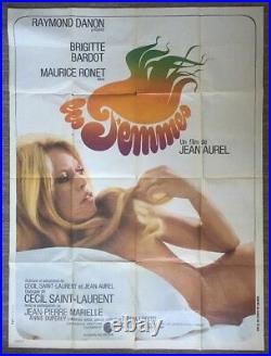 Les Femmes Original Vintage Movie Poster Bardot Women French Movie Pin-up 69