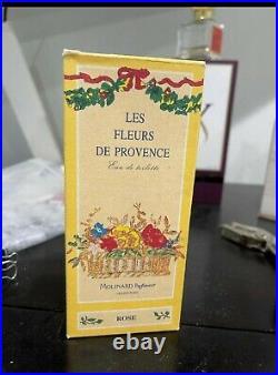 Les Fleurs De Provence Rose Edt 4oz/120ml By Molinard Vintage Rare Find