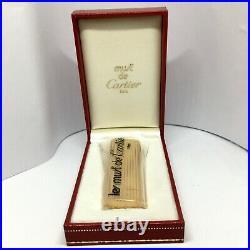 Les Must De Cartier Paris Lighter Vintage Never Opened