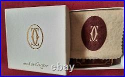 Les Must De Cartier Porta Carte Monete Pelle Vintage Coin Card Holder Leather