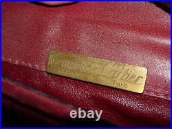 Les Must de Cartier Vintage Burgundy Suède Messenger Bag Vintage