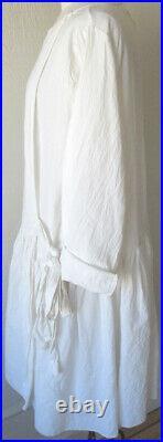 Les Ours Ecru Ivory Cotton Mina Dress Romantic Vintage Style