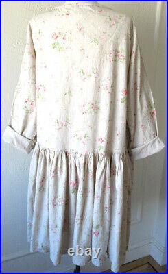 Les Ours Fleurs/Floral Print Cotton Mina Dress Romantic Vintage Style