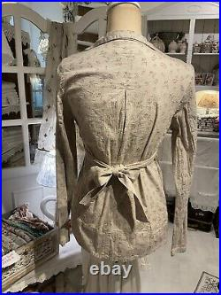 Les Ours Gr. S Jacke Sommer Vintage Floral Neu Wickeljacke Geblümt Antik Rosa