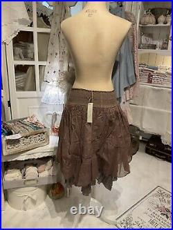 Les Ours Rock Neu Organza Einheitsgröße Lavendel Vintage Lagenlook Louison
