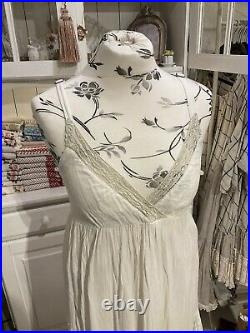 Les Ours Sommer Kleid Neu Weiß Gr. S Spitze Rüschen Vintage Shabby