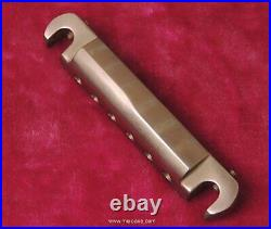 MojoAxe Compensated Wraparound Bridge for Vintage Gibson Les Paul Junior (AGED)