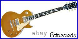 NEW EDWARDS E-LP-125SD Gold Top Les Paul Electric Guitar