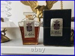 RARE VTG LES CINQ FLEURS Parfum Extrait de Molines Paris 1950 Original