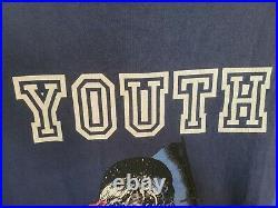SUPREME Youth Crew SS Tee SZ XL NOS 2008 Les Miserables BLUE RARE