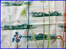 VINTAGE & RARE! Hermes Silk Scarf Les Bolides Race Cars Rena Dumas 35/90 withBOX