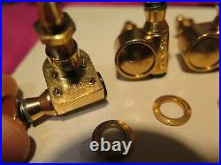 Vintage 1974 Gold USA Grover 3+3 tuners for Les Paul gibson archtop d'aquisto L5