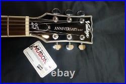 Vintage 25Th Anniversary Series V100Svb Silver Burst Les Paul