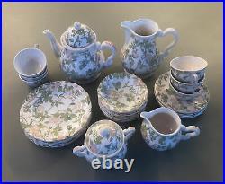 Vintage Late80s Eglantine Salins Les Bains, France Tea Coffee Service. Set of 6