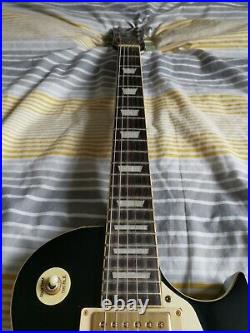 Vintage V100 Electric Guitar Les Paul Gloss Black With Box