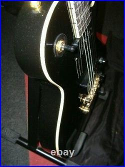 Vintage V100pbb Black Gloss 2 X P90 Les Paul With Gold H/w Guitar £325+free Pnp