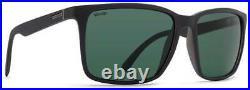 Von Zipper Lesmore Sunglasses Black Satin / Wildlife Vintage Grey Polar New