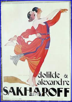 (prl) 1979 Les Ballets Russes Sakharoff Vintage Affiche Art Print Arte Illustraz